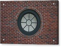 Circle Window Acrylic Print by Dennis Curry