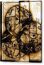 Circleladian Rhythms West Acrylic Print by Gary Bodnar