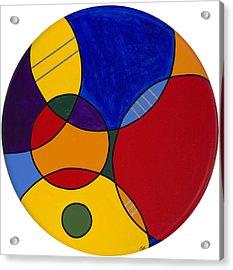 Circles Abstract 1 Acrylic Print by Patty Vicknair