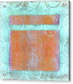 Circles And Rectangles Abstract  Acrylic Print