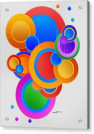 Circles Acrylic Print by Anthony Caruso