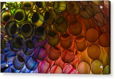 Circles In Color Acrylic Print