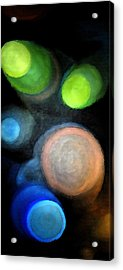 Acrylic Print featuring the digital art Circles Of Light by Saad Hasnain