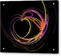 Circles Of Love Acrylic Print
