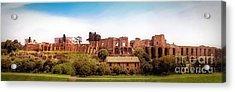 Circo Massimo Panoramic Acrylic Print by Sue Melvin