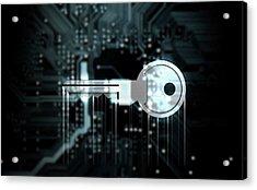 Circuit Board Projecting Key Acrylic Print