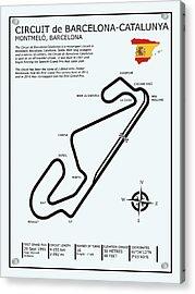 Circuit De Barcelona Catalunya Acrylic Print by Mark Rogan