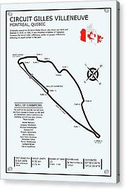 Circuit Gilles Villeneuve Acrylic Print by Mark Rogan