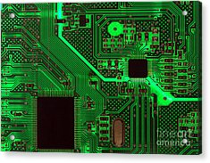 Circuitry Acrylic Print by Olivier Le Queinec