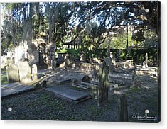 Circular Congregational Graveyard 1 Acrylic Print by Gordon Mooneyhan