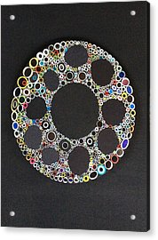 Circular Convergence Of Mutated Molecules Acrylic Print