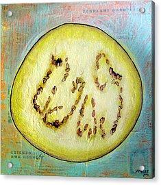 Circular Food  - Eggplant Acrylic Print