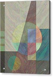 Circular Acrylic Print by Gordon Beck