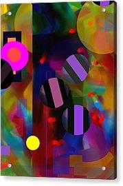Acrylic Print featuring the digital art Circus Balls by Lynda Lehmann