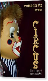 Acrylic Print featuring the photograph Circus Clown By Kaye Menner by Kaye Menner