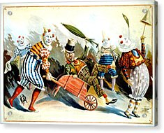 Circus Clowns - Vintage Circus Advertising Poster Acrylic Print