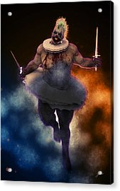 Circus Of Horrors - Cannibal Clown Acrylic Print