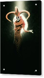 Circus Of Horrors - Mysterious Jester Woman Acrylic Print