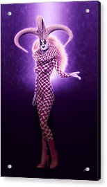 Circus Of Horrors - Purple Jester Woman Acrylic Print