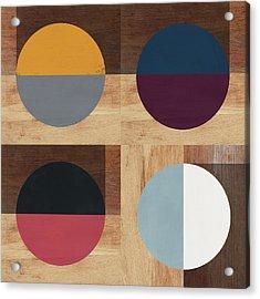 Cirkel Quad- Art By Linda Woods Acrylic Print