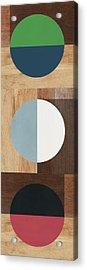 Cirkel Trio- Art By Linda Woods Acrylic Print