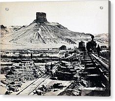Citadel Rock, Green River Valley Acrylic Print by Everett