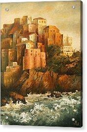 Cinque Terre Lerici Italia Painting Acrylic Print