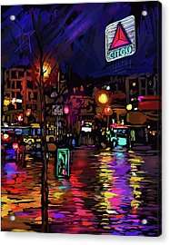 Citgo Sign, Boston Acrylic Print by DC Langer