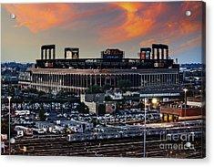 Citi Field Sunset Acrylic Print