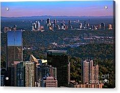 Cities Of Atlanta Acrylic Print