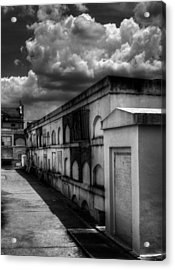 Cities Of The Dead In Black And White Acrylic Print