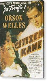 Citizen Kane - Orson Welles Acrylic Print by Georgia Fowler