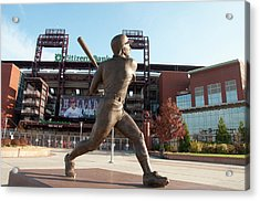 Citizens Bank - Mike Schmidt - Phillies Acrylic Print by Bill Cannon