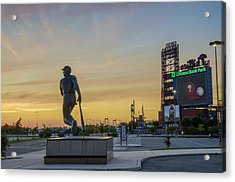 Citizens Bank Park Sunrise Acrylic Print by Bill Cannon