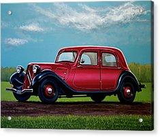 Citroen Traction Avant 1934 Painting Acrylic Print