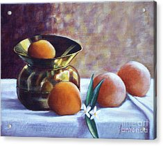 Citrus And Copper Acrylic Print by Sonsoles Shack