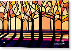 Citrus Glass Trees Acrylic Print