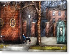 City - Newark Nj - Always Waiting  Acrylic Print by Mike Savad