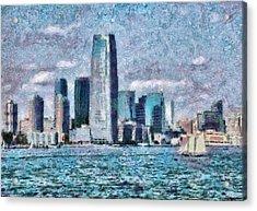City - Ny - City Of The Future Acrylic Print by Mike Savad