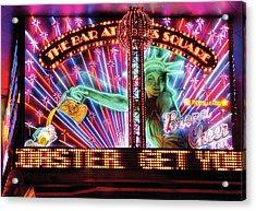 City - Vegas - Ny - The Bar At Times Square Acrylic Print by Mike Savad