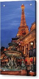 City - Vegas - Paris - Academie Nationale - Panorama Acrylic Print by Mike Savad