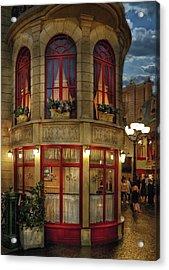 City - Vegas - Paris - Le Cafe Acrylic Print by Mike Savad