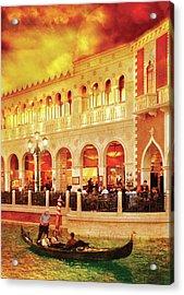 City - Vegas - Venetian - Life At The Palazzo Acrylic Print by Mike Savad