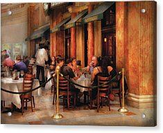 City - Venetian - Dining At The Palazzo Acrylic Print by Mike Savad