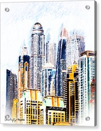 City Abstract Acrylic Print