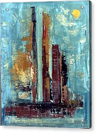 City Abstraction Acrylic Print by Anand Swaroop Manchiraju