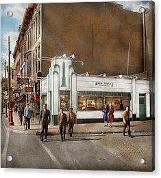 City - Amsterdam Ny - Hamburgers 5 Cents 1941 Acrylic Print