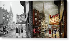 Acrylic Print featuring the photograph City - Amsterdam Ny - Life Begins 1941 - Side By Side by Mike Savad