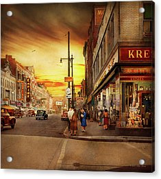 Acrylic Print featuring the photograph City - Amsterdam Ny - The Lost City 1941 by Mike Savad