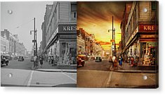 Acrylic Print featuring the photograph City - Amsterdam Ny - The Lost City 1941 - Side By Side by Mike Savad
